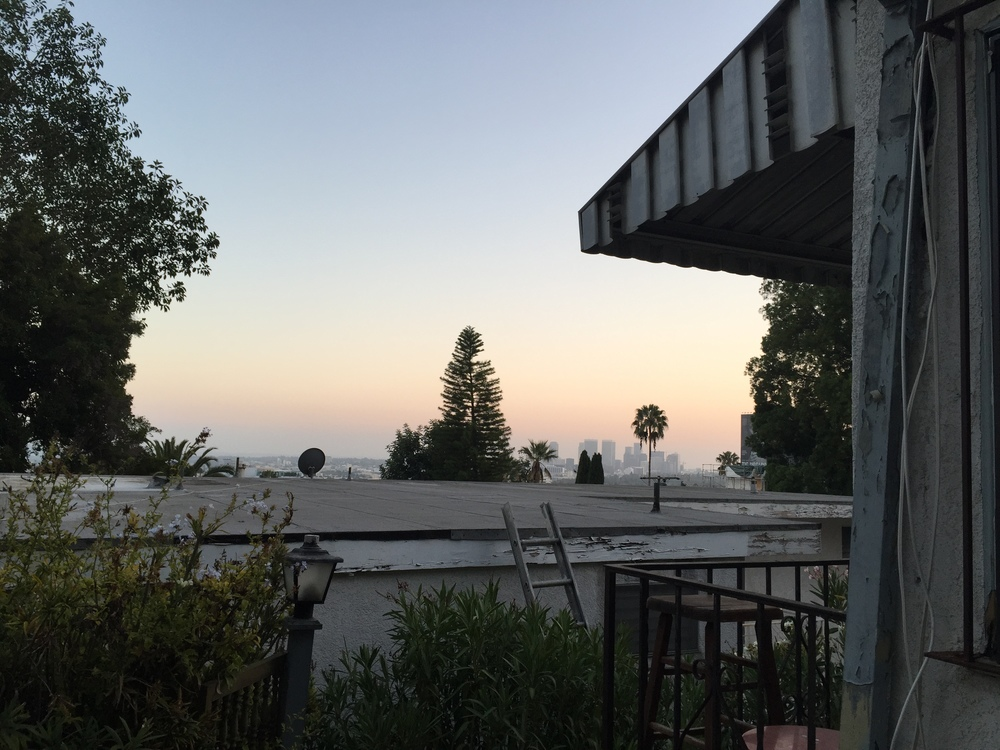 sunset view from our patio, west hollywood