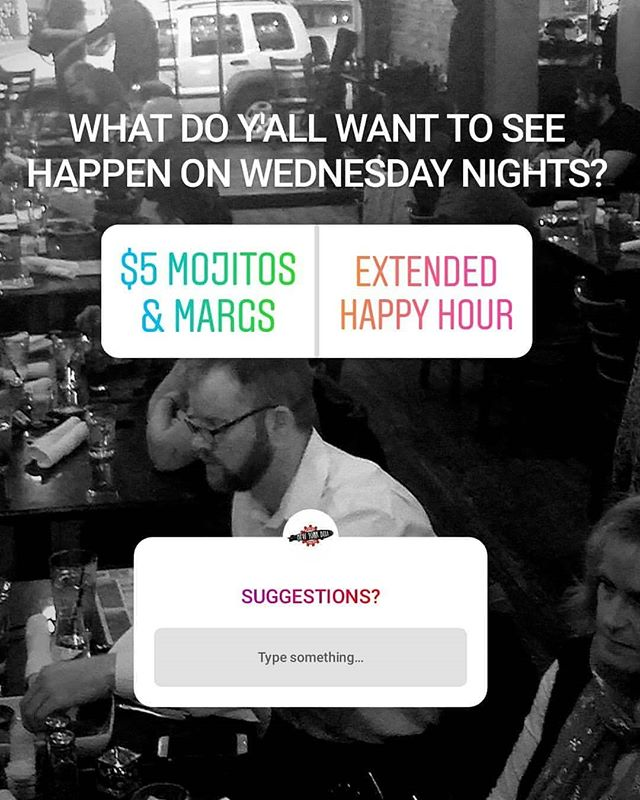 Go vote on our story or give us some ideas! What do YOU want on Wednesday nights? 'Cause it's not about us. . . #rva #rvadine #rvaeats #carytown #ilovecarytown #vcu #happyhour #nydelirva #rvahappyhour