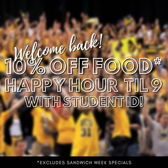 Welcome back, VCU! Man, we missed y'all this summer & we know the first day back can be rough, so bring in your student ID & get 10% off food & HAPPY HOUR til 9PM! Stick around for karaoke at 10 to show off those vocals. . . #rva #rvadine #rvaeats #carytown #ilovecarytown #vcu #happyhour #nydelirva #rvahappyhour #sandwichweek #karaoke rvasandwichweek #rvaspecials #rvathursday #rvalunch #rvadinner
