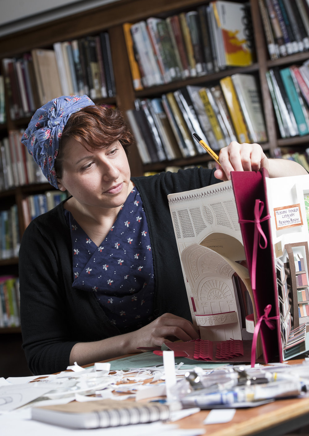 Anne Kucera - Artist in Residence at the Melbourne Athenaeum Library