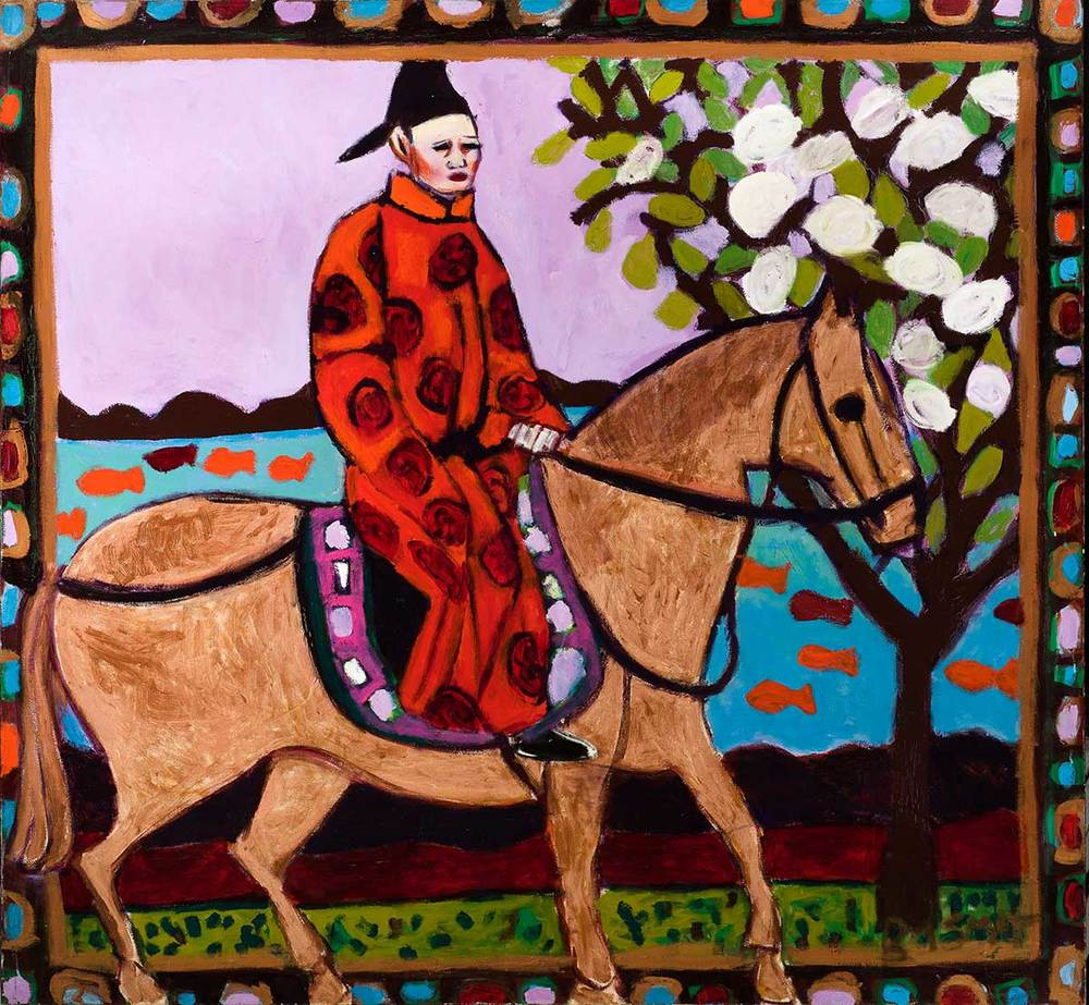 The Horseman   -  160cm x 170cm, Oil on Canvas