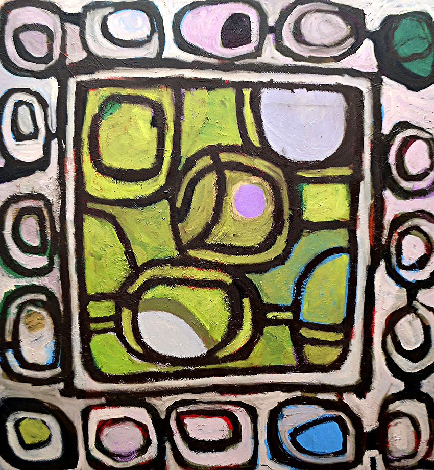 Pattern #8    -   170cm x 180cm, Oil on Canvas