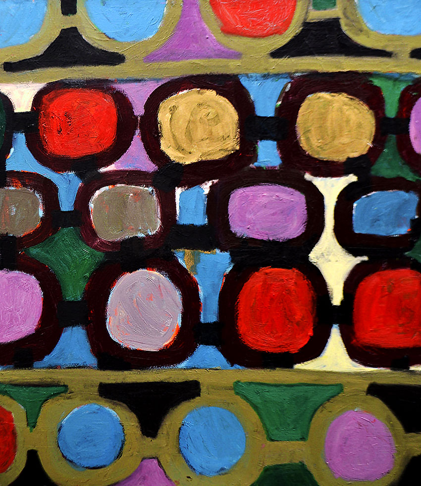 Pattern #25   -  125cm x 110cm,Oil on Canvas