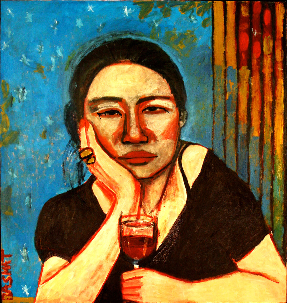 A Drink    -   170cm x 160cm, Oil on Canvas