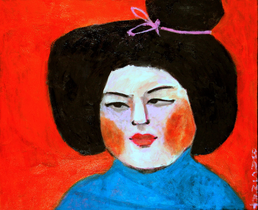 Chinese Lady    -   96cm x 117cm, Oil on Canvas