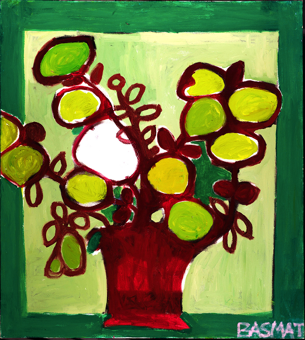 Green Flowers    -   150cm x 135cm, Oil on Canvas