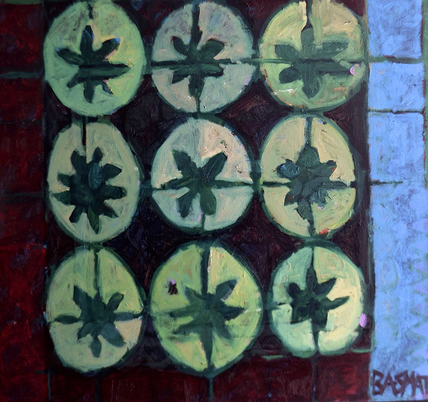 Pattern #13    -   140cm x 155cm, Oil on Canvas