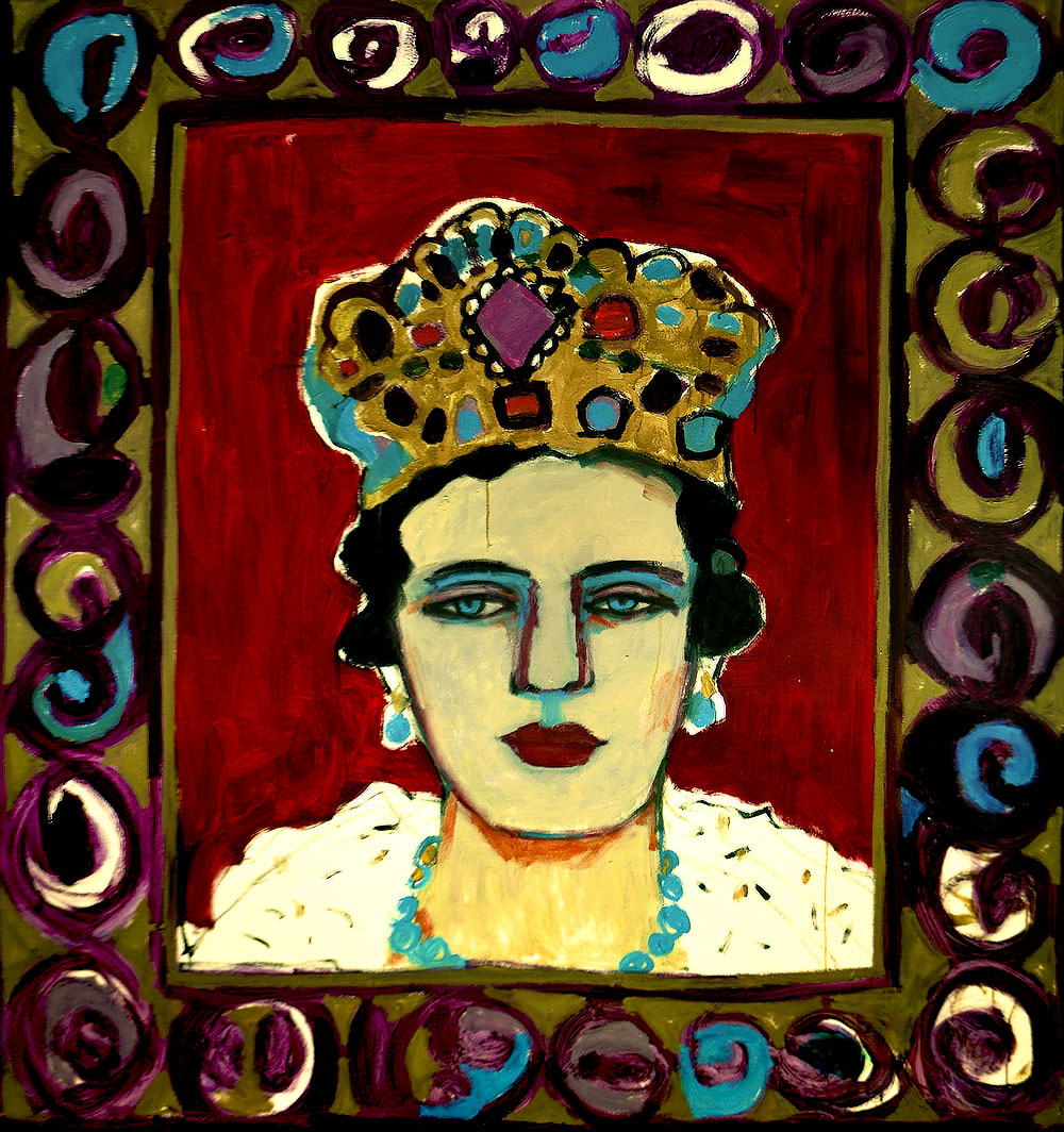 The Queen   -   180cm x 155cm, Oil on Canvas