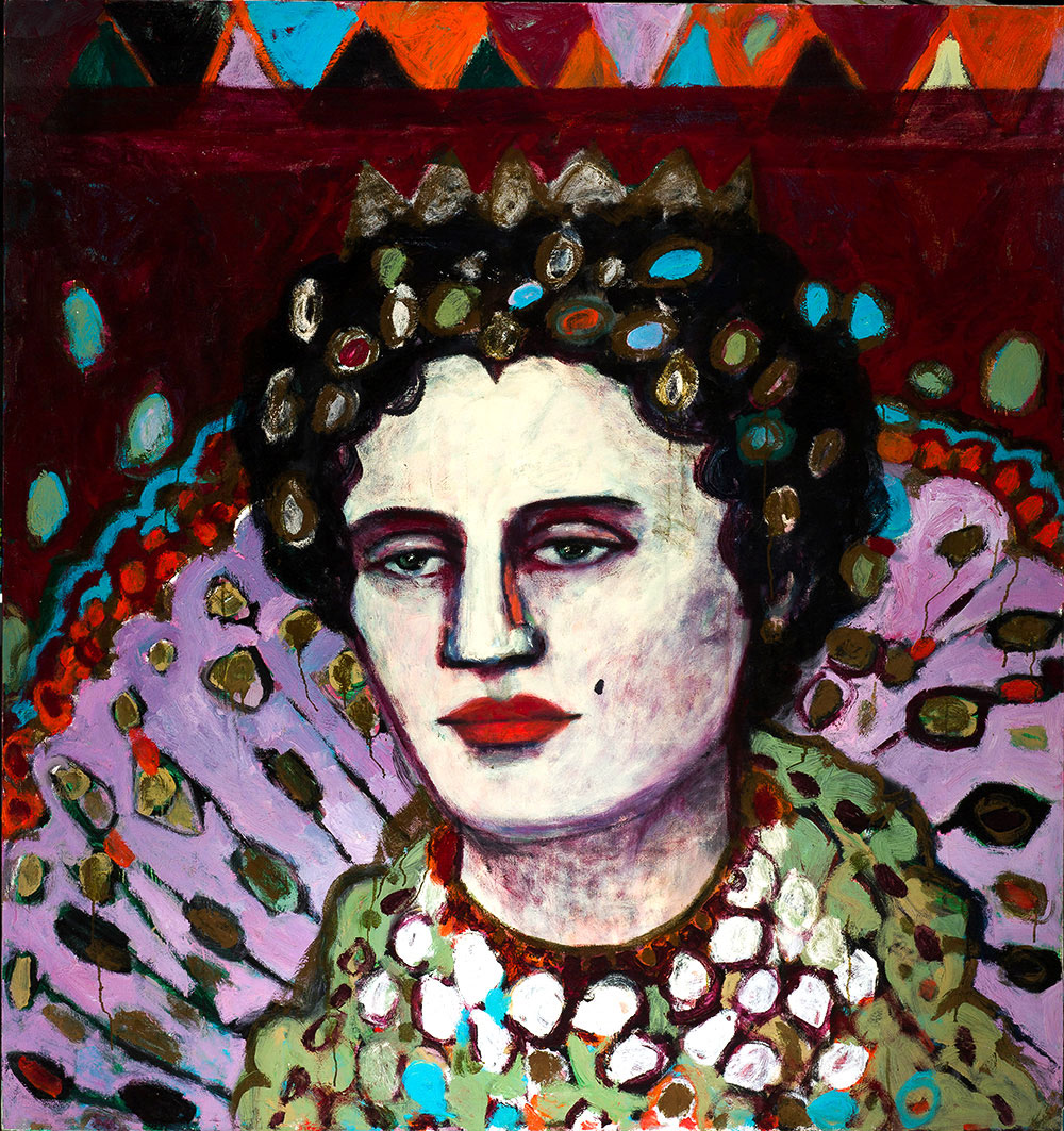 Queen E.   -   170cm x 160cm, Oil on Canvas