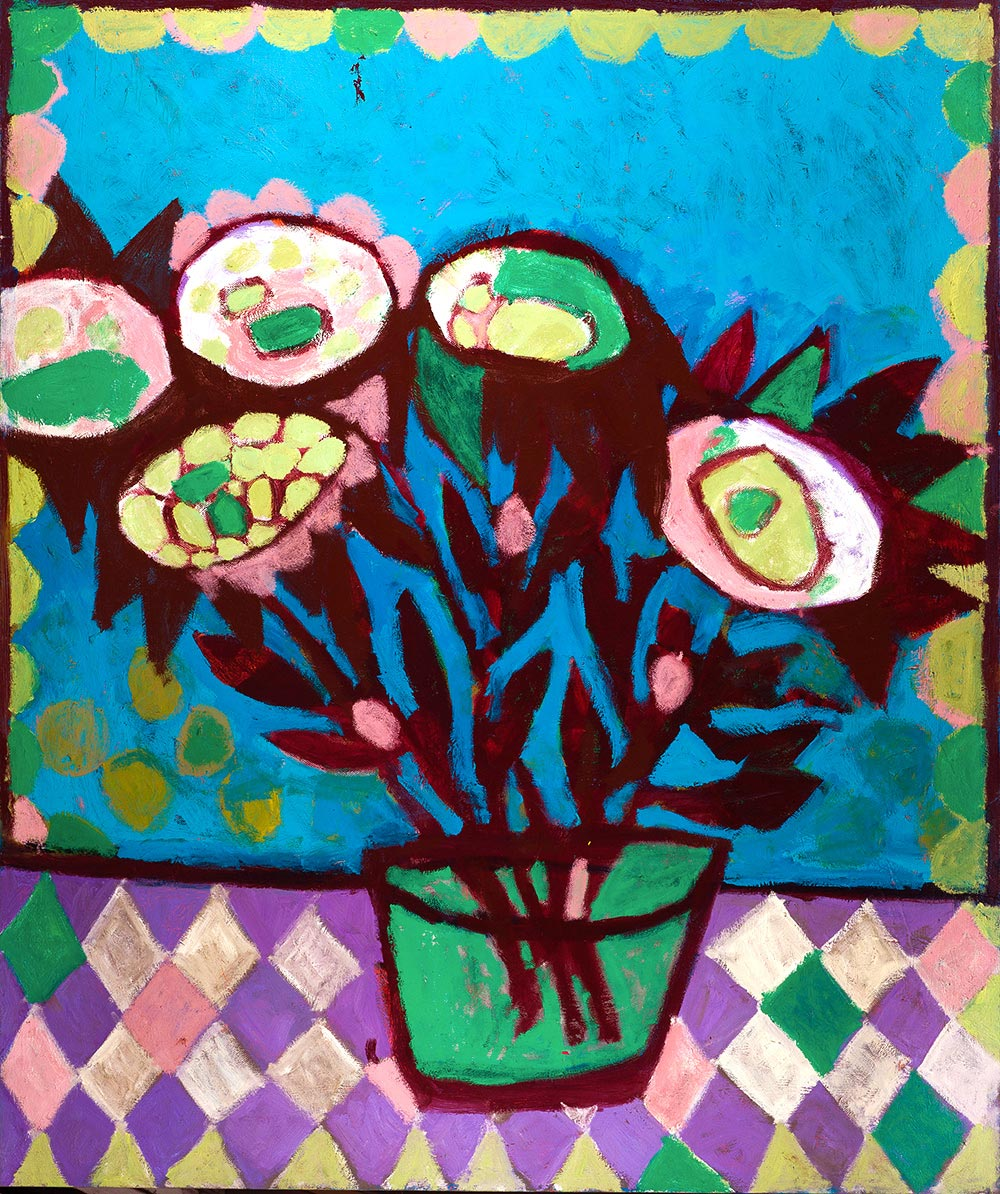 Flowers #19    -   185cm x 155cm, Oil on Canvas
