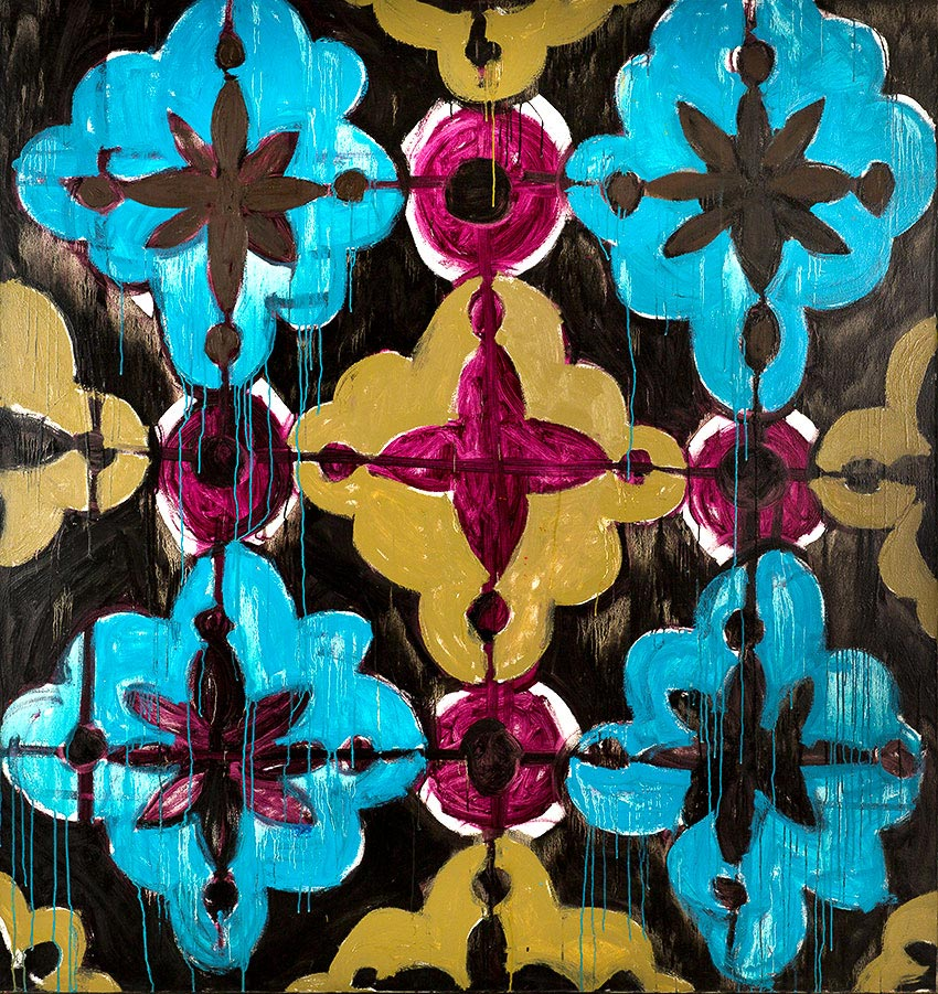 Pattern #3    -   170cm x 180cm, Oil on Canvas