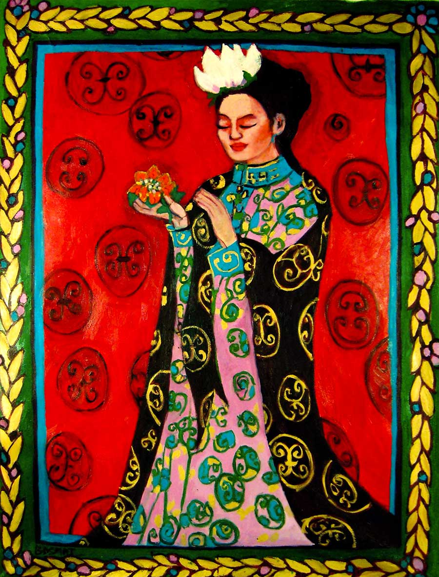 Tang Dynasty Woman   -  240cm x 174cm, Oil on Canvas