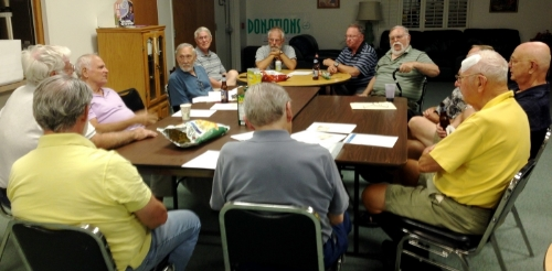 The UU  men's group meets the 2nd and 4th Wednesday of each month at 7:00 PM in the Social Hall