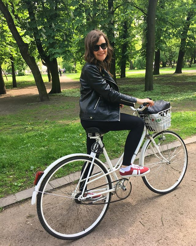 Lviv by bike as always, thanks to @expectationtofly for her lovely bike #lvivbybike #lviv #bicycle #велосипед #львіввело