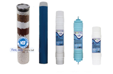 Mineral cartridges can structure water but they dissolve and need routine replacement.