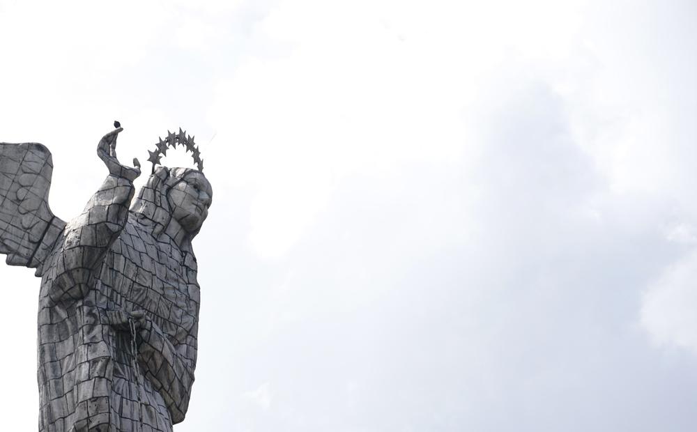 Virgen de Quito on El Panecillo hill