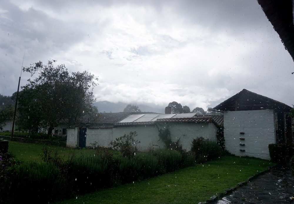 Here comes the rain....