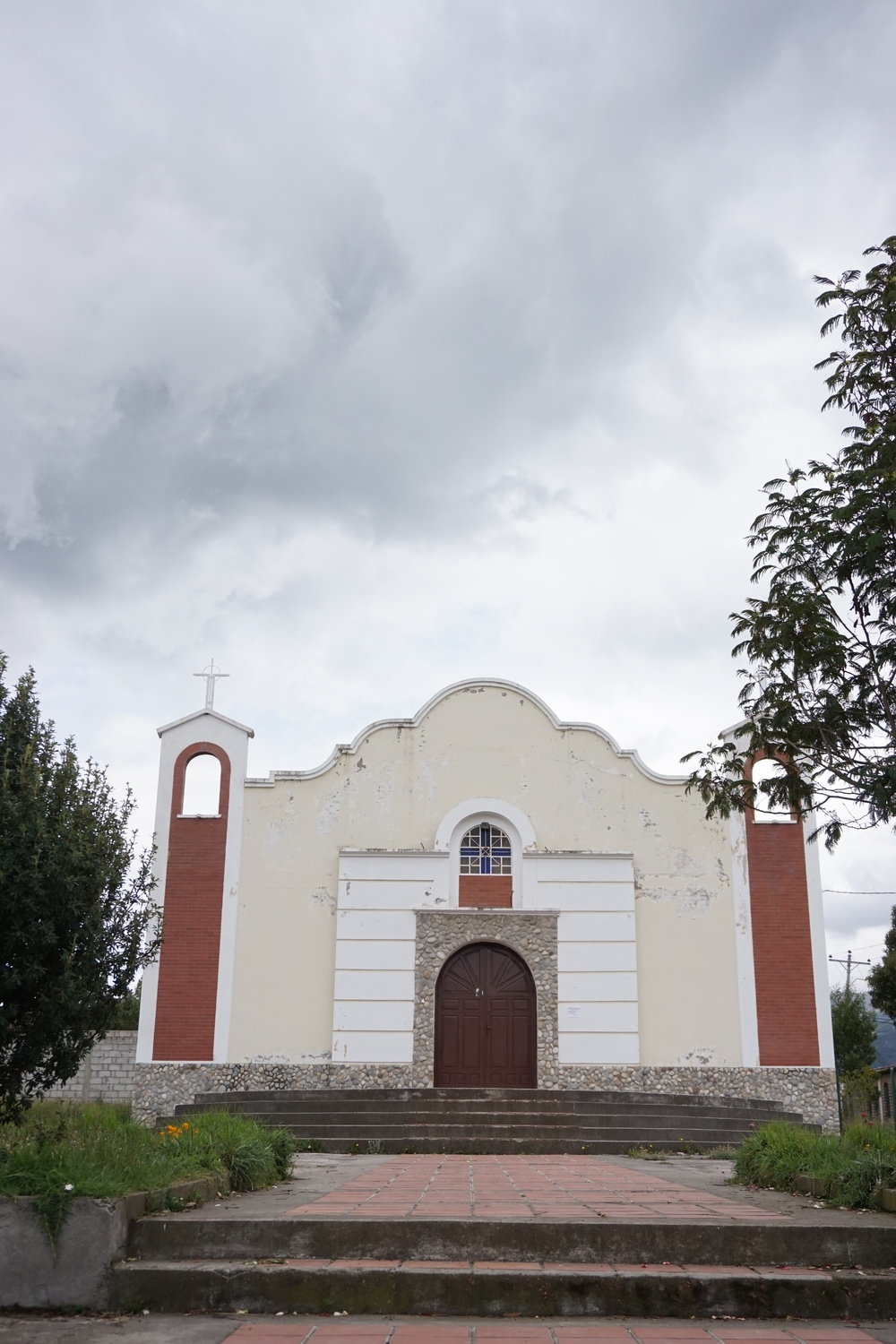 The village's Catholic church