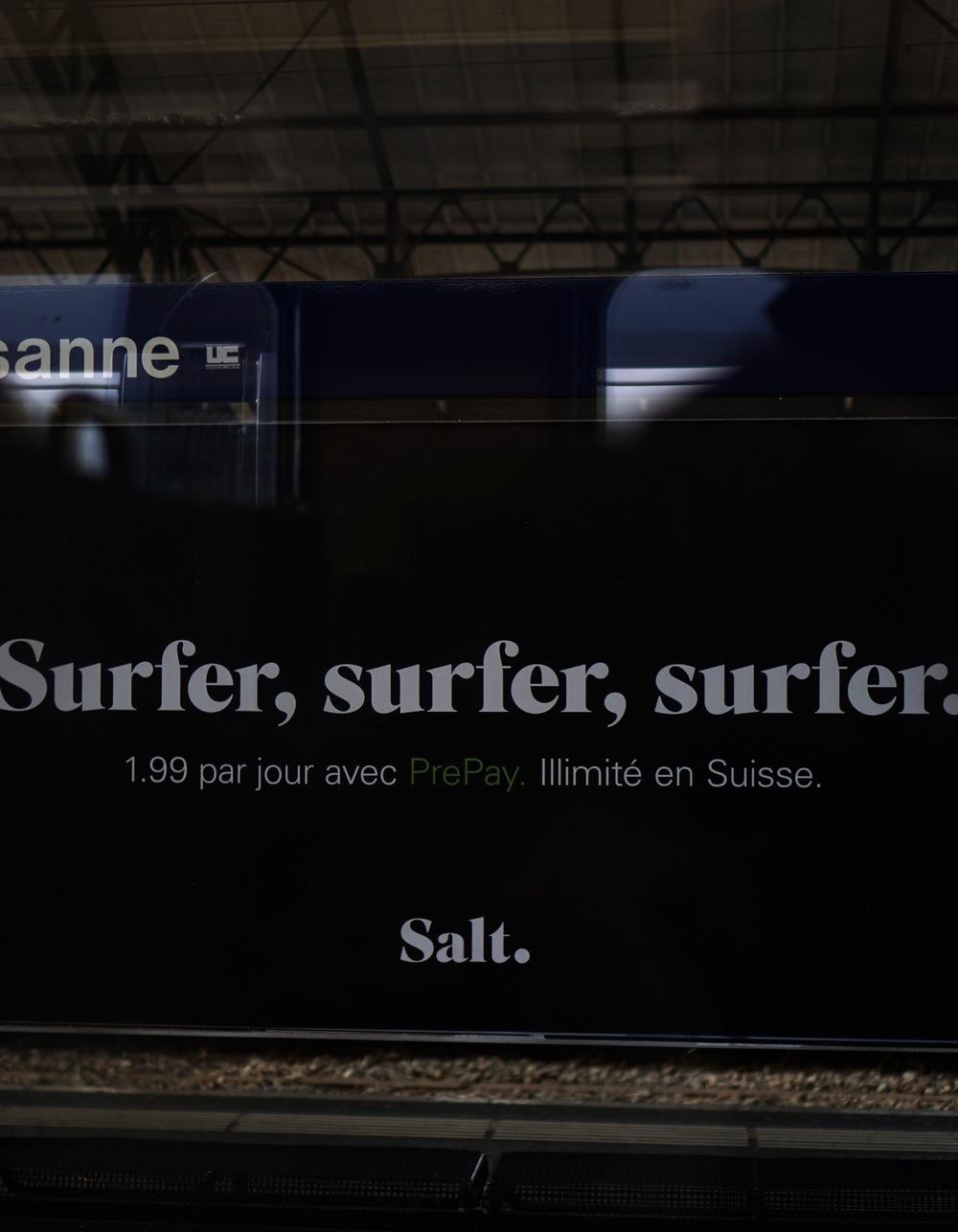Surfer, surfer, surfer. Salt?