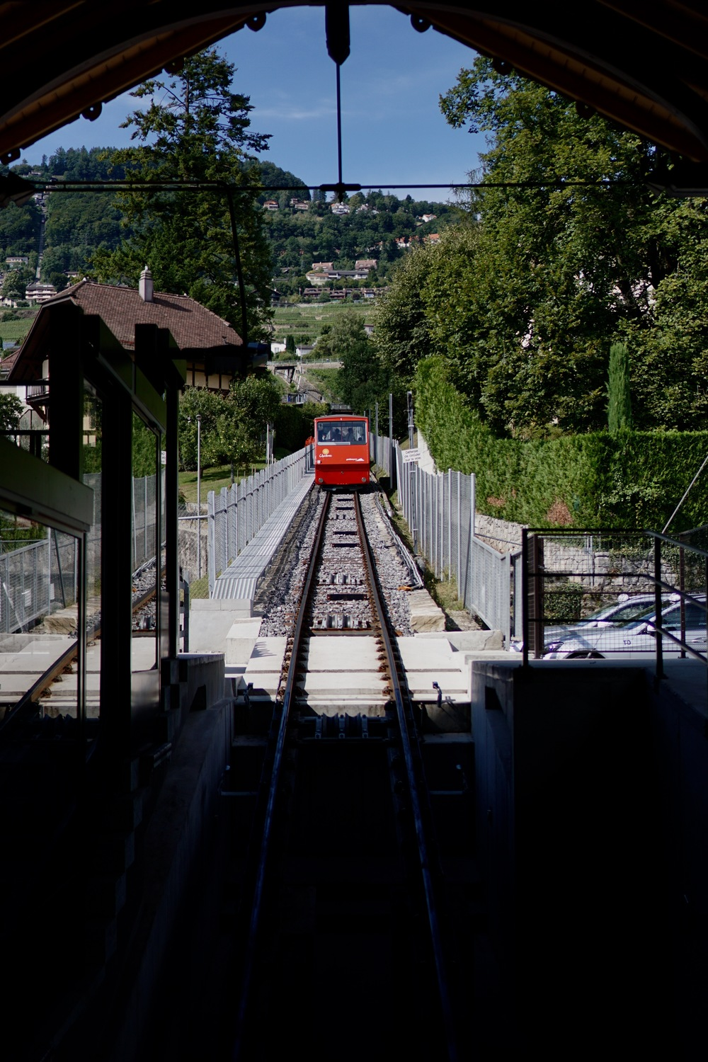 Funicular into the Lavaux wine region that we weren't quite able to catch. Clearly.