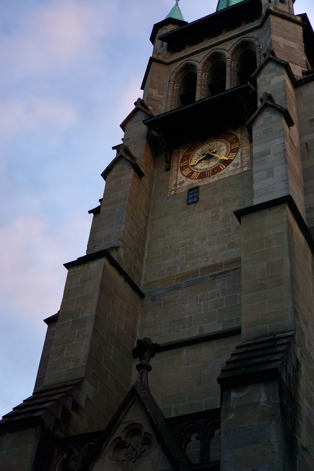 The Lausanne Cathedral bell tower