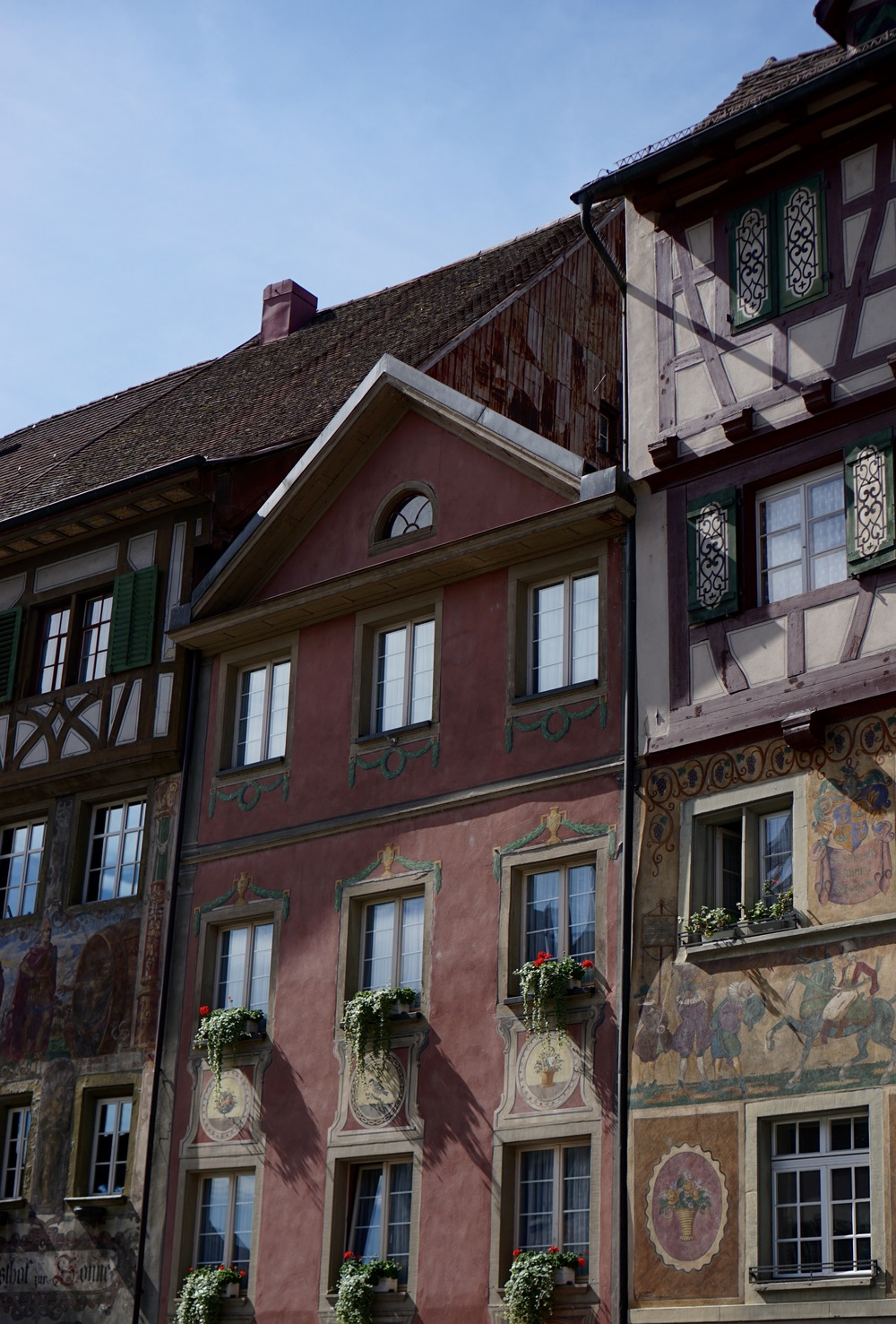 Painted buildings at Stein am Rein