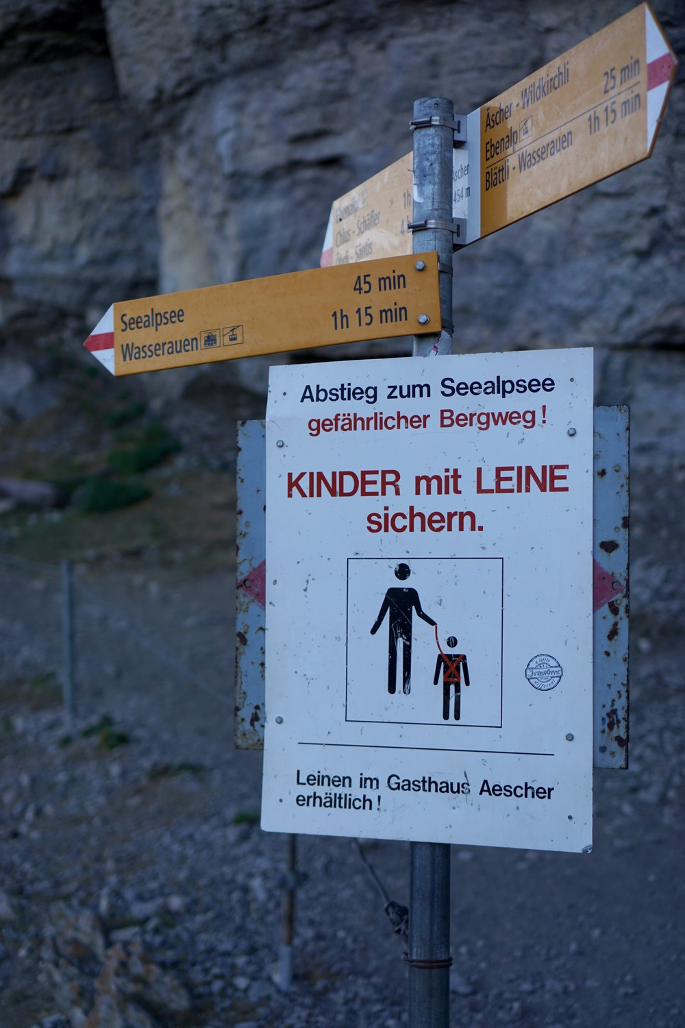 Lets be clear. The Swiss are advocating child leashes. NEVER OKAY