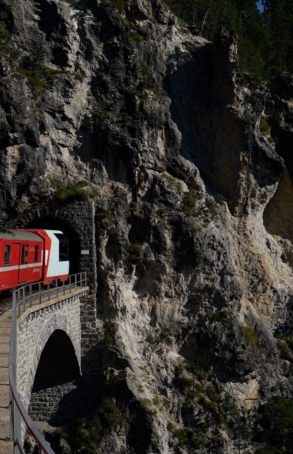The BEAUTIFUL Bernina Express railway