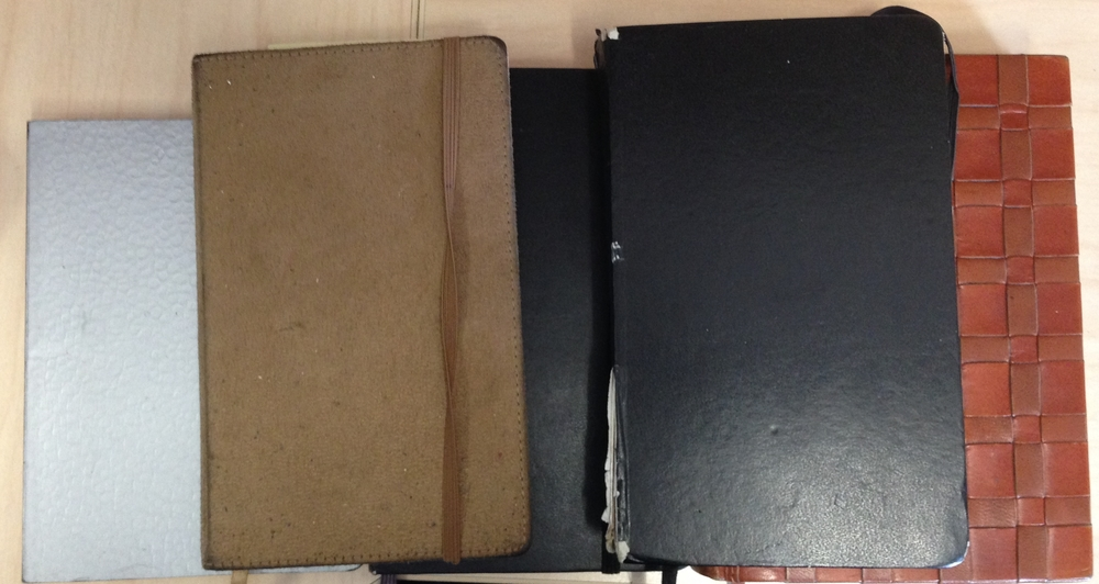 Some of my well-worn journals