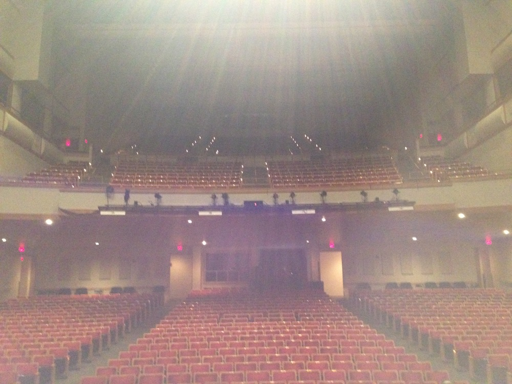 A view from the stage at the Phillips Center before the doors opened on March 25.