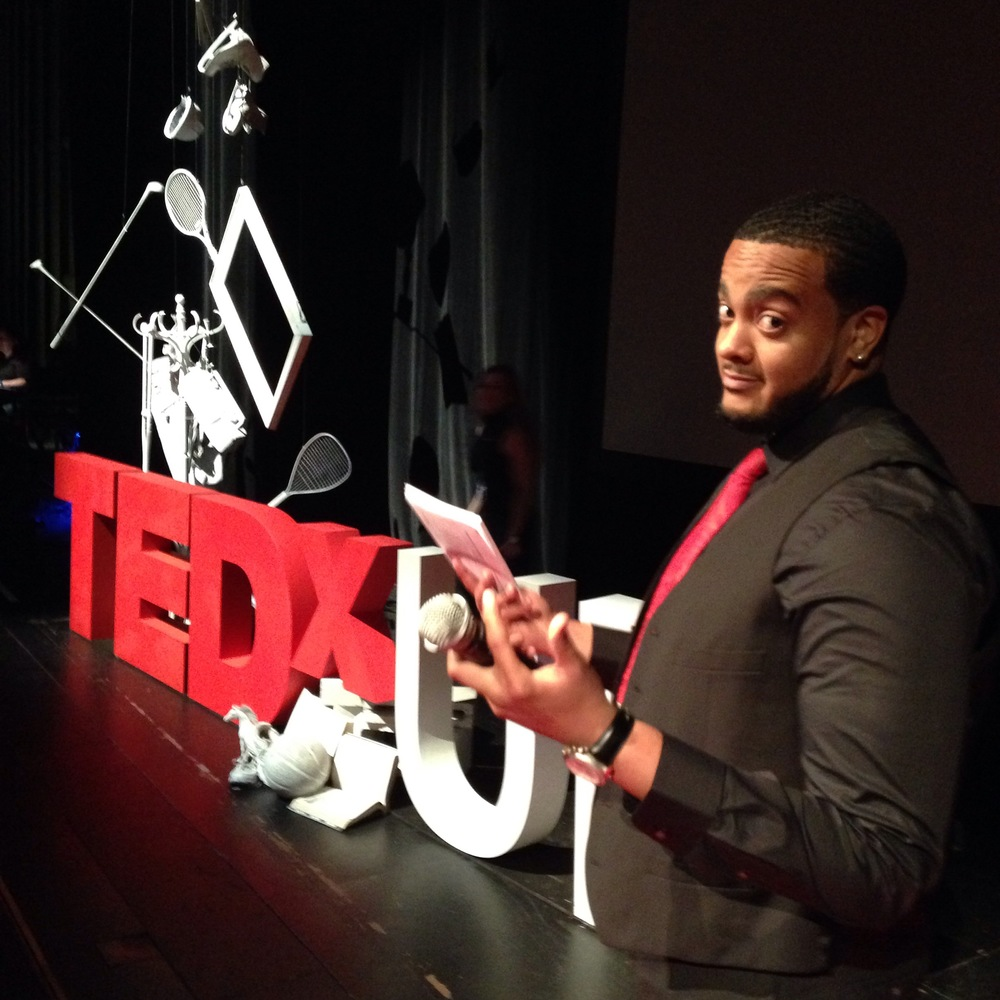 Jaron getting ready for TEDxUF