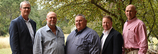 Texas Beef Council Board of Directors Executive Committee for 2018: (from left to right)Austin Brown III, Jason Beyer, Steven Lastovica, Ryan Moorhouse, Michael White