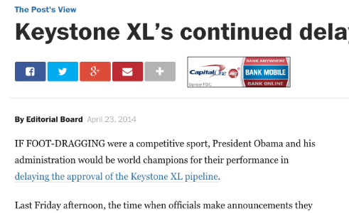 Keystone's Continued Delay is Absurd - The Washington Post