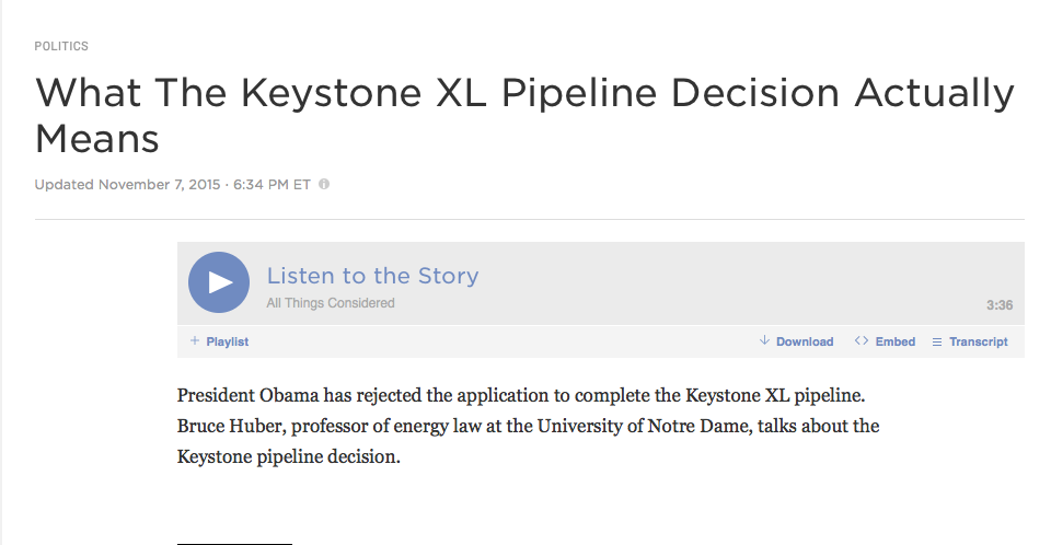 What the Keystone XL Pipeline Decision Actually Means