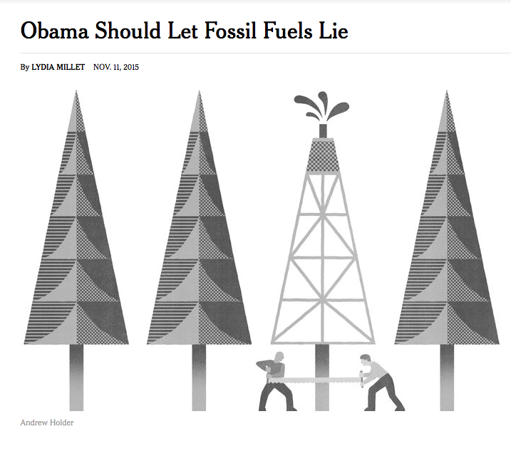 Obama Should let Fossil Fuels Lie