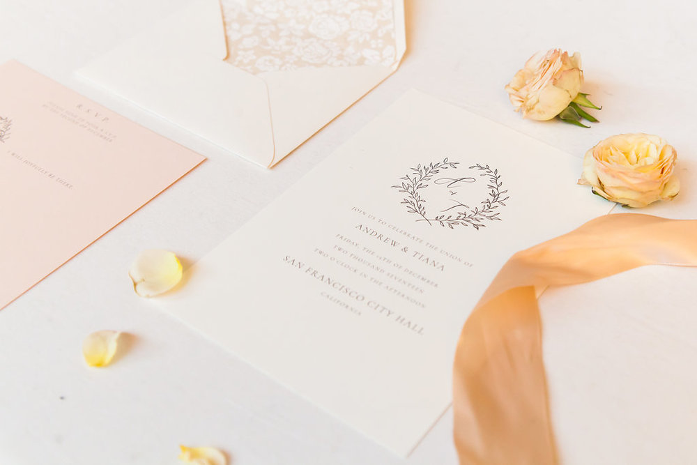 Wedding Invitation Inspiration Flatlay