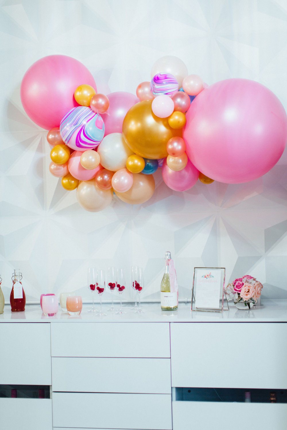 Balloon Installations and Event Design for Galentines Party or Bridal Shower
