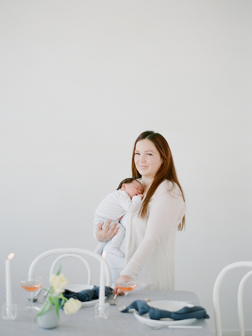 mother and baby photo shoot inspiration