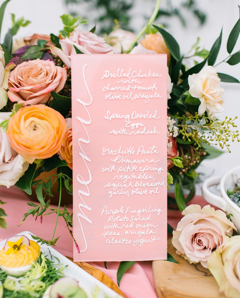 Easter table menu calligraphy stationery idea