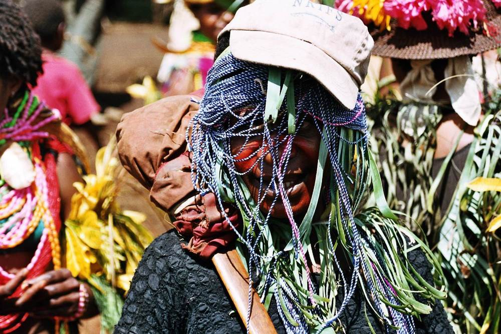 Tribal Celebrations in Papua New Guinea with imported goods.
