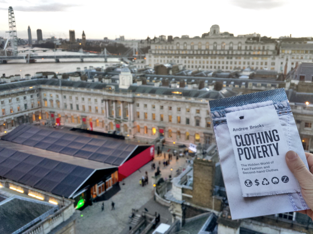 Clothing Poverty above London Fashion Week