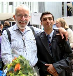 Akshay with 2005 Nobel Prize for Medicine Winner Dr Robin Warren