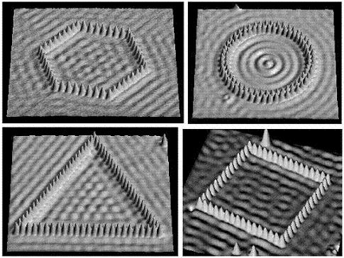 Figure 1. Electron waves on a metal surface. Image Courtesy of National Center of Competence in Research (NCCR) on Nanoscale Science, Switzerland.