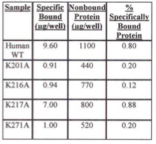 Table 2. Evaluation of Specifically Bound Protein to iLAP Plates. Specifically Bound Protein using E. coli Cells Grown at Room Temperature.