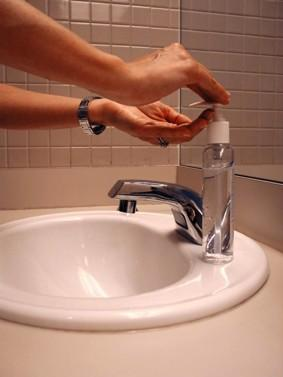 Figure 2. The biology behind what occurs when you wash your hands with antimicrobial soaps is a complex and important issue. Image Courtesy: CDC/Kelly Thomas.