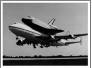 Figure 2. Orbiter Enterprise is ferried from test site to test site using a modified Boeing 747. Image courtesy NASA.
