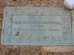 "Figure 3. Cockerell's grave in Boulder, Colorado, is inscribed: ""Naturalist – Humanitarian – Teacher"" to pay homage to the many facets of his life."