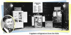 Household refrigerators were just entering the market in the 1920s. These refrigerators used poisonous gases as coolants, and caused several deaths. Their dangers led to the discovery of Freon, a nontoxic coolant. Image from the Association of Home Appliance Manufacturers.
