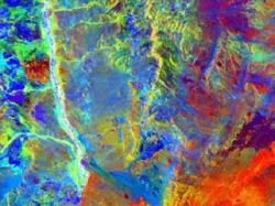 Figure 3. Thermal imaging is used to find signal obstructers such as mineral deposits near the surface. Source: ESA.