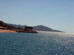 During the winter months (June – September) swimmers can enjoy the North Queensland beaches without fear. (Image by Rebecca Straw. Townsville, Australia)